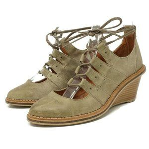 Schuler and Sons Philadelphia Lace Up Wedges 9.5